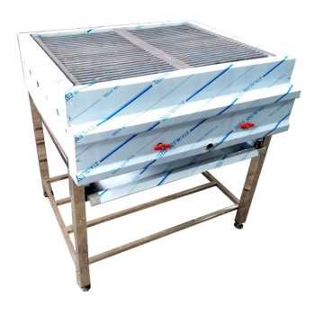دستگاه گریل پایه دار تخت روغنی و ذغالی و ترکیبی